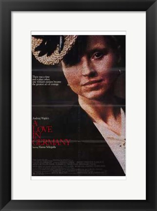 Framed Love in Germany Print