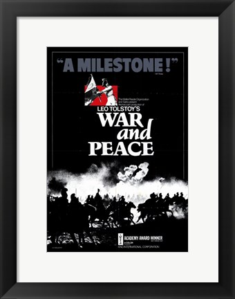 Framed War and Peace - A Milestone Print