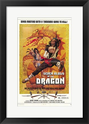 Framed Seven Blows of the Dragon Print