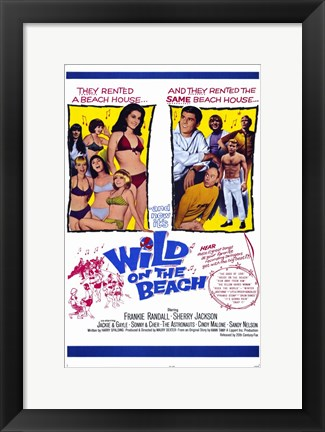 Framed Wild on the Beach Print