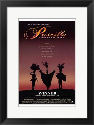 Framed Adventures Of Priscilla  Queen Of The De Print