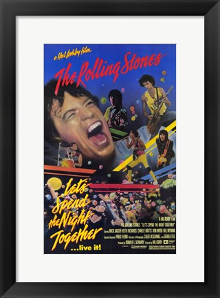 Framed Let's Spend the Night Together Print