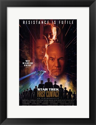 Framed Star Trek: First Contact Print