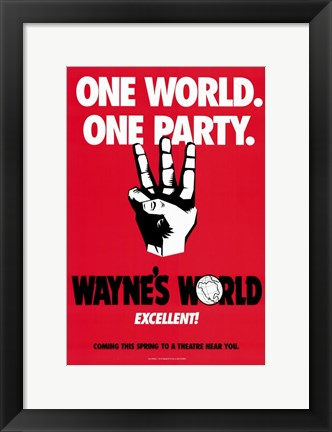 Framed Wayne's World - red Print