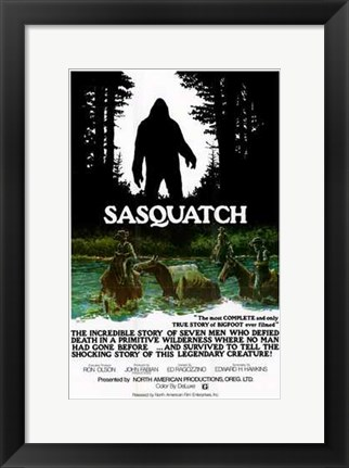 Framed Sasquatch  the Legend of Bigfoot Print