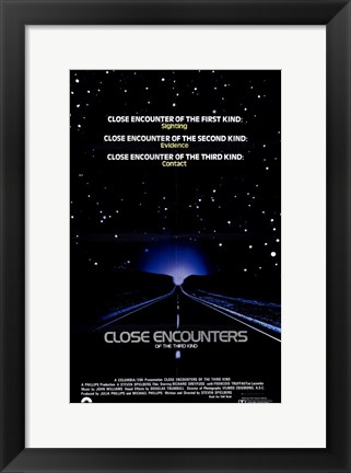 Framed Close Encounters of the Third Kind Sighting Evidence Contact Print