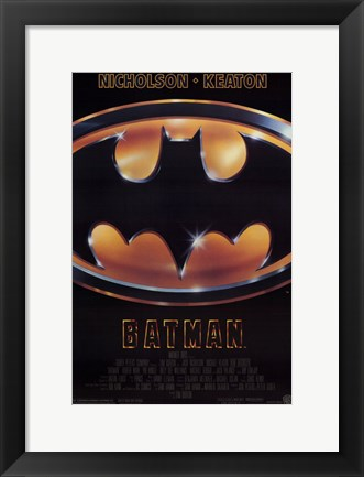 Framed Batman Movie Logo Print