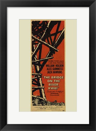 Framed Bridge on the River Kwai Tall Tan Background Print