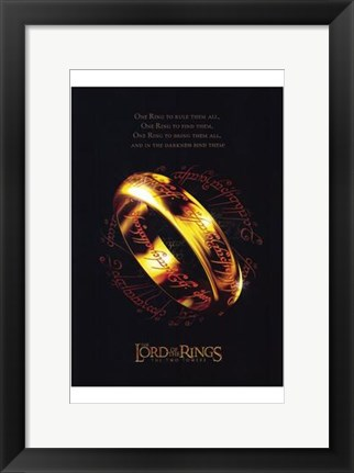 Framed Lord of the Rings: the Two Towers Ring Print