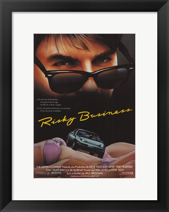 Framed Risky Business Cruise Driving Print