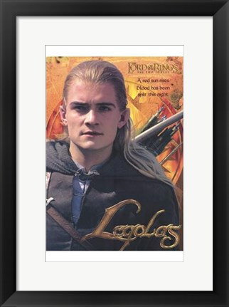 Framed Lord of the Rings: the Two Towers Legolas Print