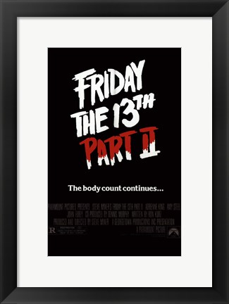 Framed Friday the 13Th Part 2 Print