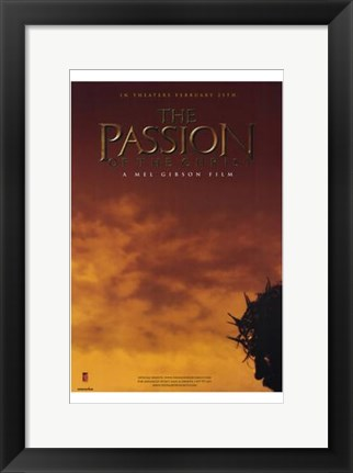 Framed Passion of the Christ - Man's head Print