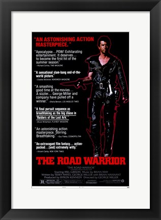 Framed Road Warrior Movie Print