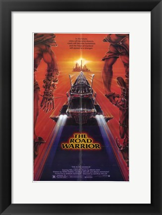 Framed Road Warrior Sci Fi Print