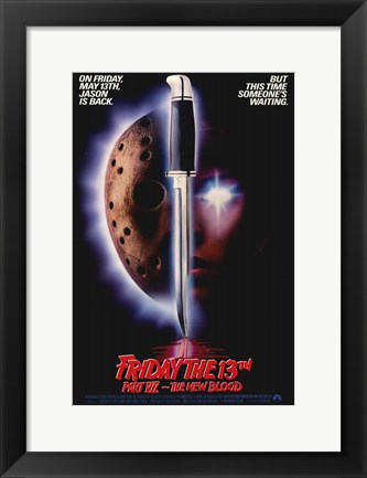 Framed Friday the 13Th Part 7 - the New Blood Print