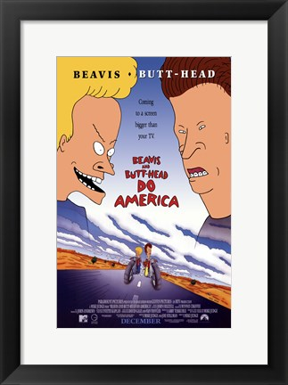 Framed Beavis and Butthead Do America Print