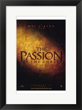 Framed Passion of the Christ Print