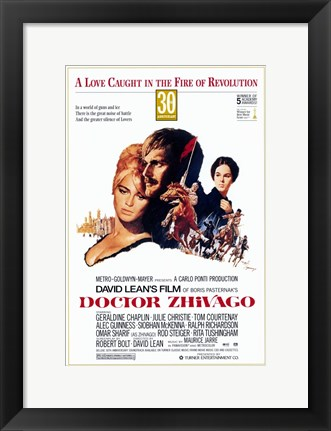 Framed Doctor Zhivago - A love caught in the fire of revolution Print