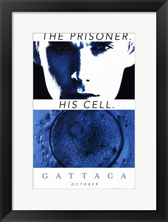 Framed Gattaca The Prisoner. His Cell. Print