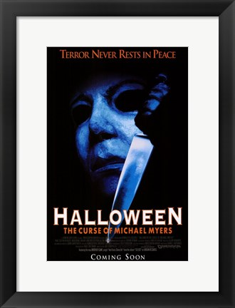 Framed Halloween 6: the Curse of Michael Myers Print