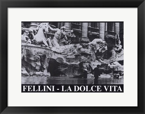 Framed La Dolce Vita Black and White Print