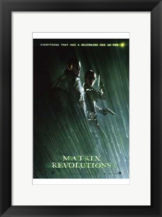 Framed Matrix Revolutions Morpheus & Trinity Print