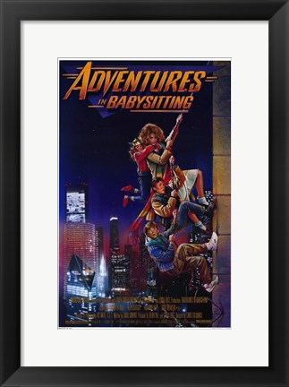 Framed Adventures in Babysitting Print