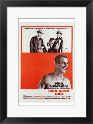 Framed Cool Hand Luke Carrying Him Print