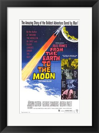 Framed from the Earth to the Moon Print
