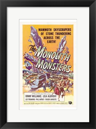 Framed Monolith Monsters Print