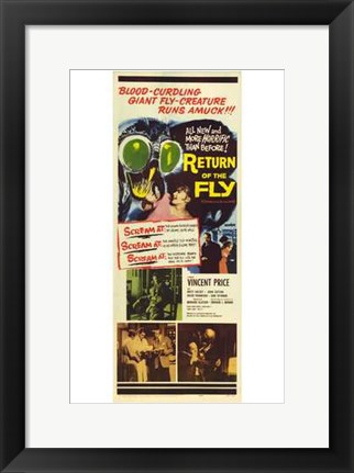 Framed Return of the Fly Print