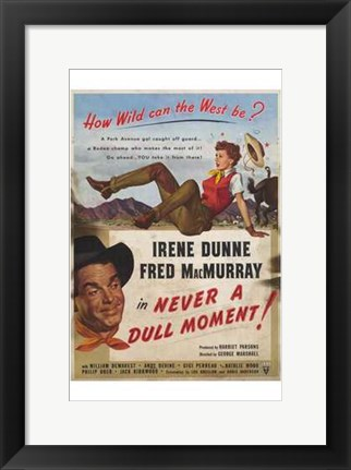 Framed Never A Dull Moment Fred MacMurry Print