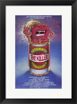 Framed Return of the Killer Tomatoes Print