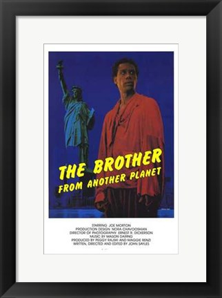 Framed Brother from Another Planet Print