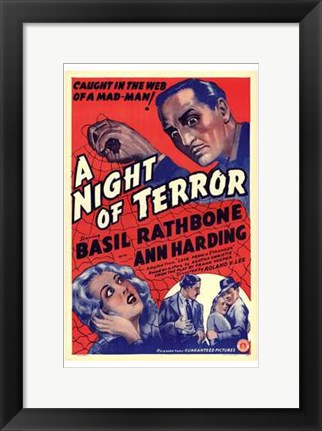 Framed Night of Terror Print