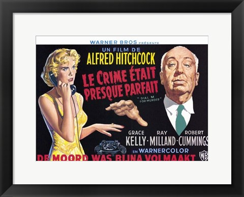 Framed Dial M for Murder - wide Print