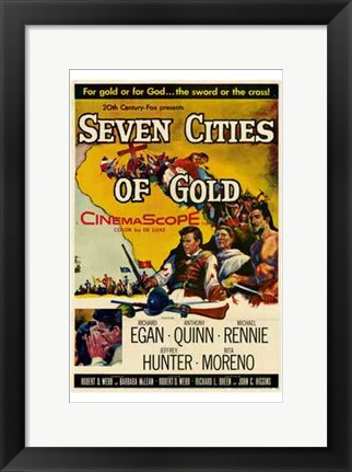 Framed Seven Cities of Gold Print