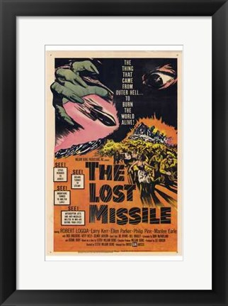 Framed Lost Missile Print