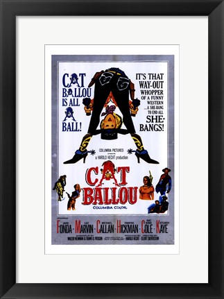 Framed Cat Ballou Film Print