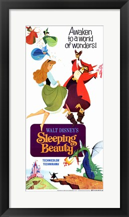 Framed Sleeping Beauty Awaken to a World of Wonders Print