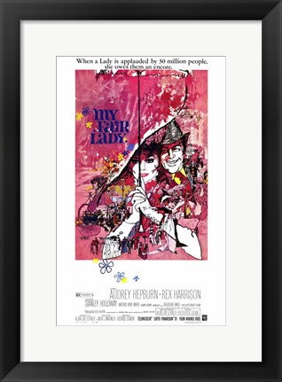 Framed My Fair Lady - when a lady is applauded... Print