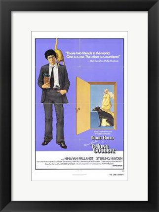 Framed Long Goodbye Elliot Gould Print