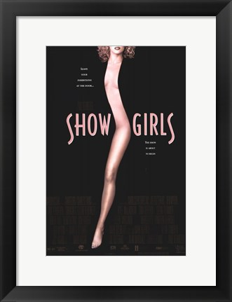 Framed Showgirls Black and Pink Print