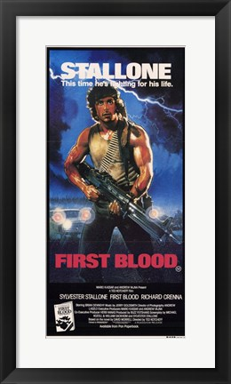 Framed Rambo: First Blood Stallone Print