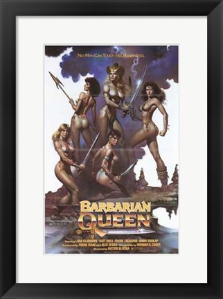 Framed Barbarian Queen, c.1985 Print