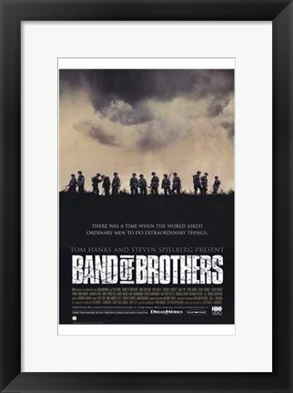 Framed Band of Brothers Silhouette Print
