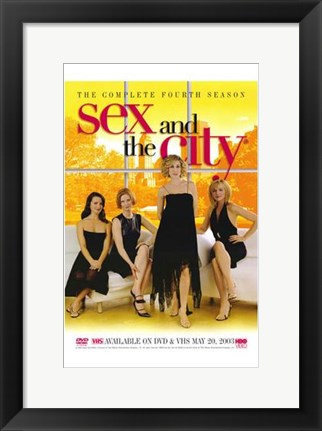 Framed Sex and the City Fourth Season Print