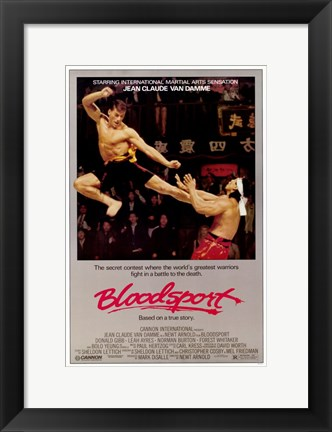 Framed Bloodsport Print