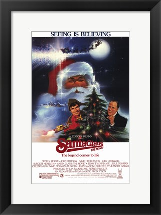 Framed Santa Claus: the Movie Print